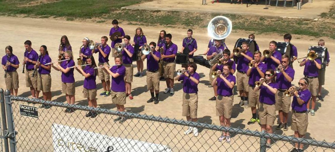 MGHS Band performs at the Morrow County Fair.