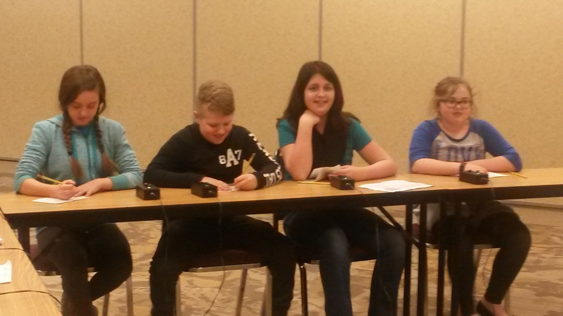 5th Graders participate in an Academic Challenge.