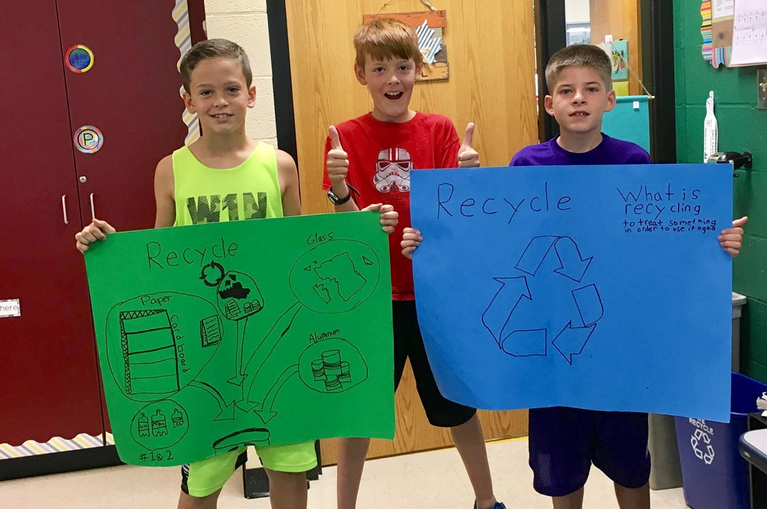 5th Graders study recycling.