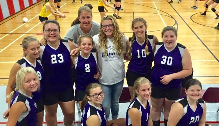 8th Grade Volleyball team at Loudenville.